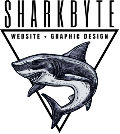 Sharkbyte website and graphic design